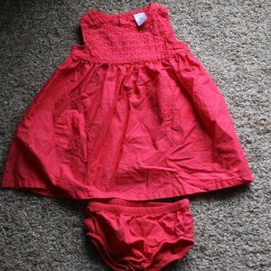 Carter's 9M Dress with Bloomers